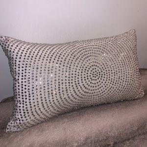 Callisto Home Velvet Rhinestone Pillow